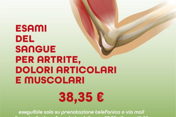 Esami del sangue per artrite, dolori articolari e muscolari